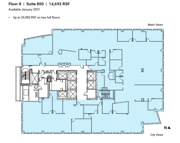 ビルの平面図02